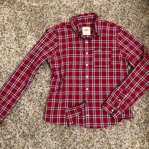 Hollister button down plaid shirt size medium